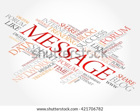 Message word cloud, business concept - stock vector