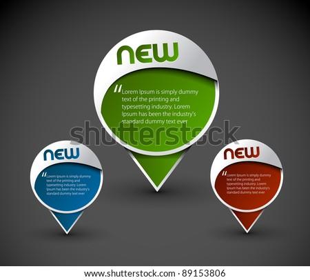 messenger window icon element, vector illustration. - stock vector