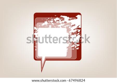 messenger window icon vector - stock vector