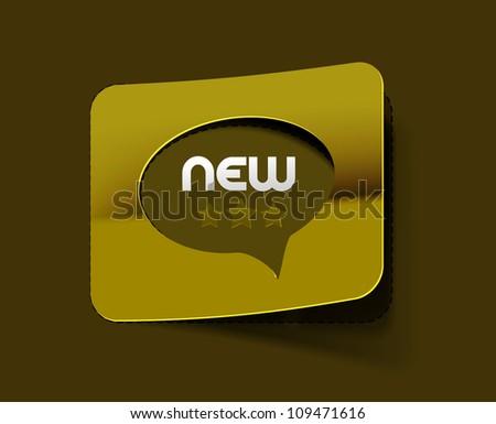 messenger window label, vector illustration isolated - stock vector