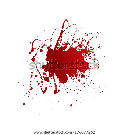 Messy red stains of blood or wine. EPS10 vector. - stock vector