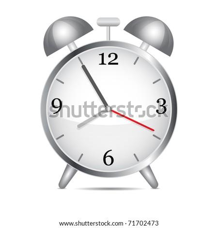 Metal alarm clock.Vector - stock vector