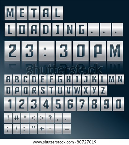 Metal alphabet vector design - stock vector