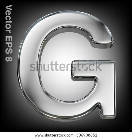 Metal alphabet vector symbol - G. Eps 8 using mesh. - stock vector