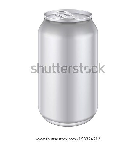 Metal Aluminum Beverage Drink Can 500ml. Ready For Your Design. Product Packing Vector EPS10  - stock vector