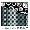Metal and gear pattern background - stock vector