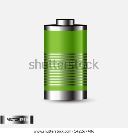 Metal and Glossy transparent battery icons
