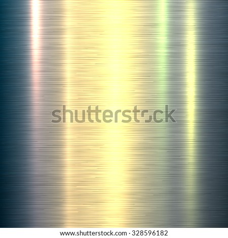 Metal background, polished metallic texture, vector illustration. - stock vector
