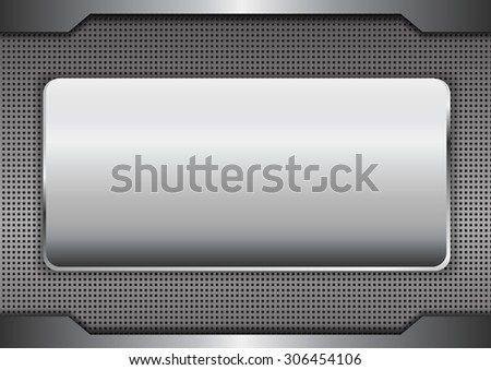 metal background texture - vector illustration - stock vector