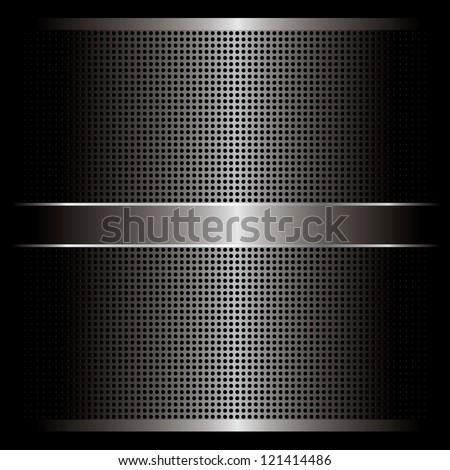 Metal background vector - stock vector
