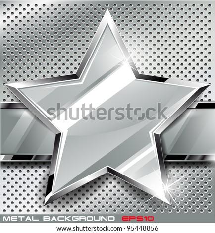 Metal background.Vector illustration - stock vector