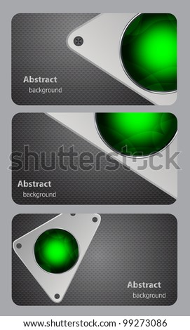 Metal background vector illustration business card - stock vector