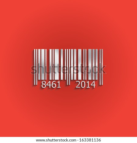 Metal barcode icon. Vector design - stock vector