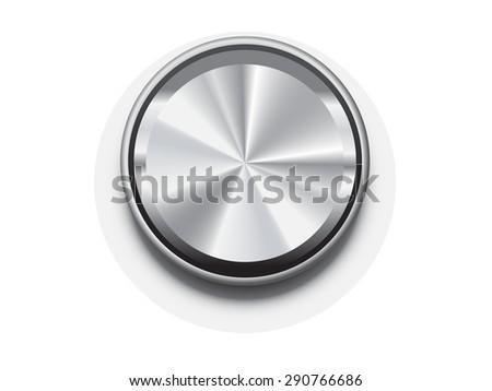 metal blank button frame vector design elemet - stock vector