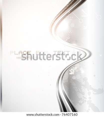 Metal business greeting card. Vector eps 10. - stock vector