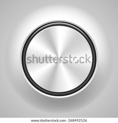 Metal button - stock vector