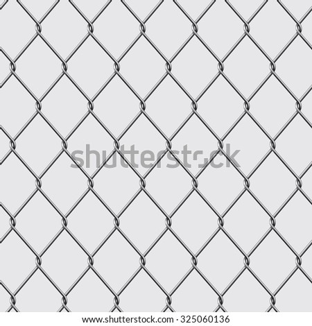 Metal chain link fence isolated on background. Vector illustration - stock vector