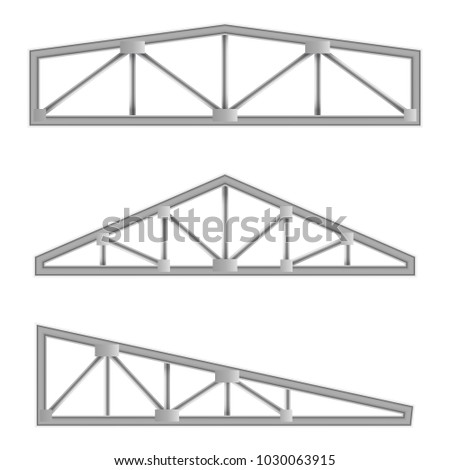 Metal Constructions Isolated On White Background