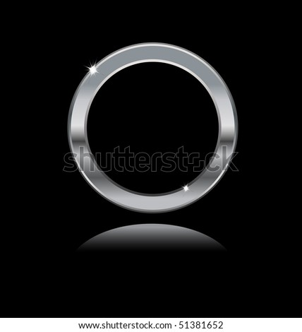 metal frame on black background - stock vector
