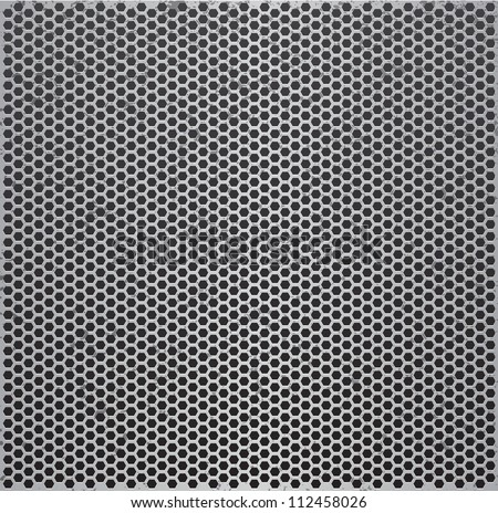 metal grid grunge industrial background - stock vector