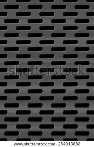 Metal grid seamless pattern - stock vector