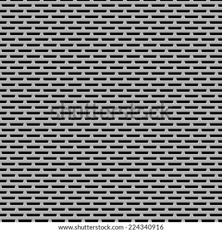 Metal Grill Pattern Texture for Background Design. Vector Illustration. - stock vector