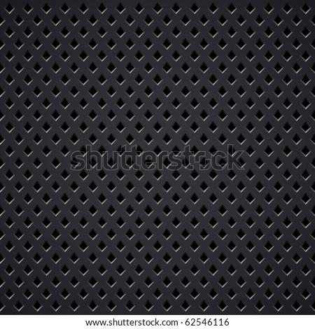 Metal grill vector texture. - stock vector