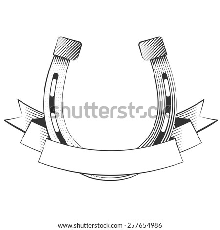 Metal horseshoe on a white background, excellent vector illustration, EPS 10 - stock vector