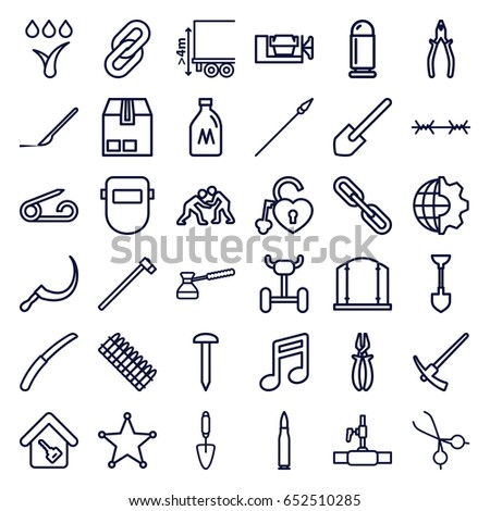 metal icons set set 36 metal stock vector royalty free 652510285