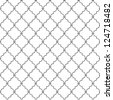 Metal lattice. Seamless vector. - stock photo