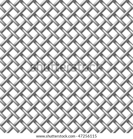 Metal net seamless - vector pattern for continuous replicate. - stock vector