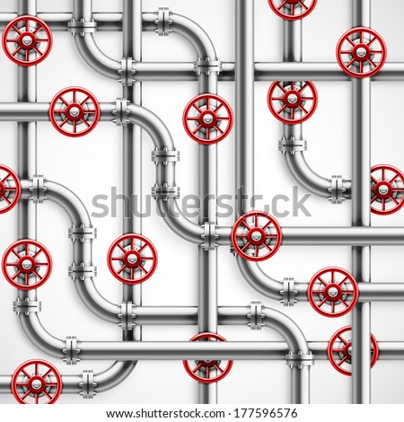 Metal pipes, industrial background, eps 10. - stock vector