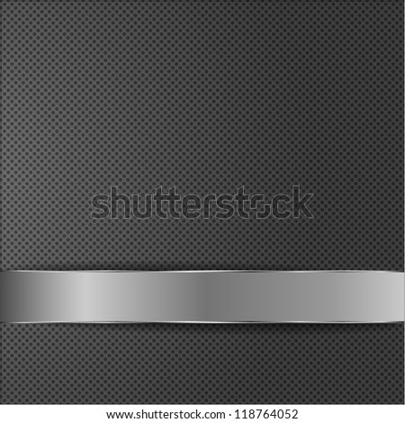 Metal plate over grid surface - stock vector
