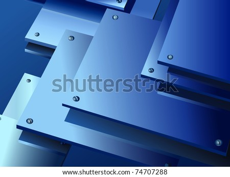 Metal plates - stock vector