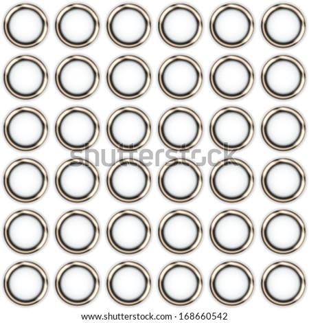 metal rings on a white background - stock vector
