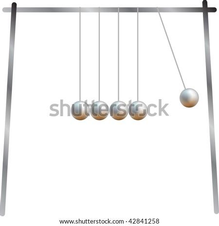 Metal rocking balls - stock vector