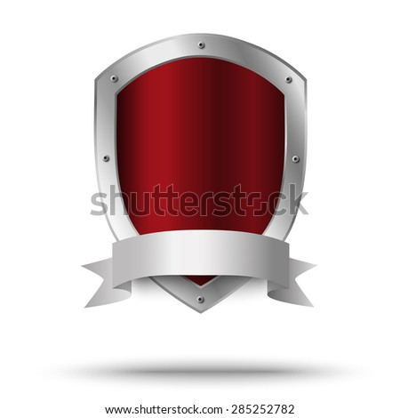 Metal shield. Protection or victor's symbol. - stock vector