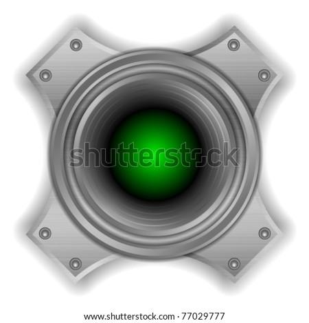 Metal Speaker - stock vector