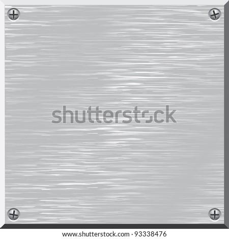 Metal surface. Vector. Design element. - stock vector