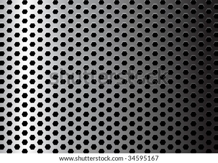Metal texture / pattern with hexagon holes