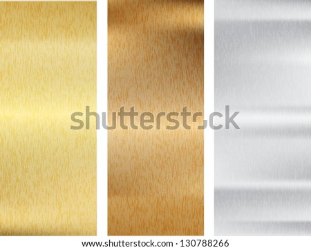 Metal texture set. Vector illustration. - stock vector