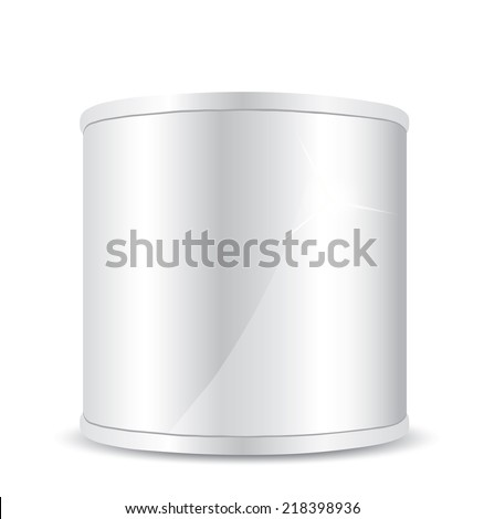 Metal tin can - stock vector