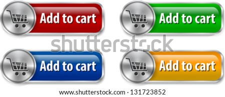 Metallic and glossy web design elements for online shopping. Vector illustration - stock vector