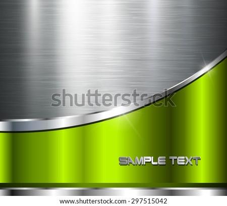 Metallic background polished steel texture, vector design. - stock vector