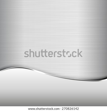 Metallic background. Polished texture. - stock vector