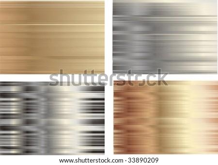 metallic background set - stock vector