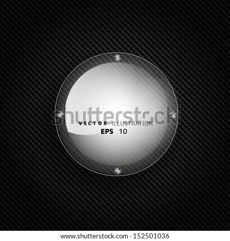 Metallic background with carbon texture and speech bubble