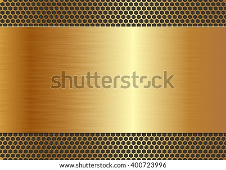 metallic background with texture - stock vector