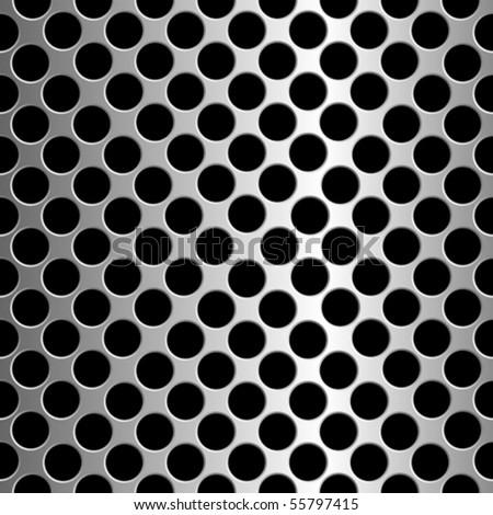 metallic circles texture, abstract seamless pattern; vector art illustration - stock vector