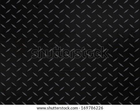 metallic diamond plate background with grunge - stock vector